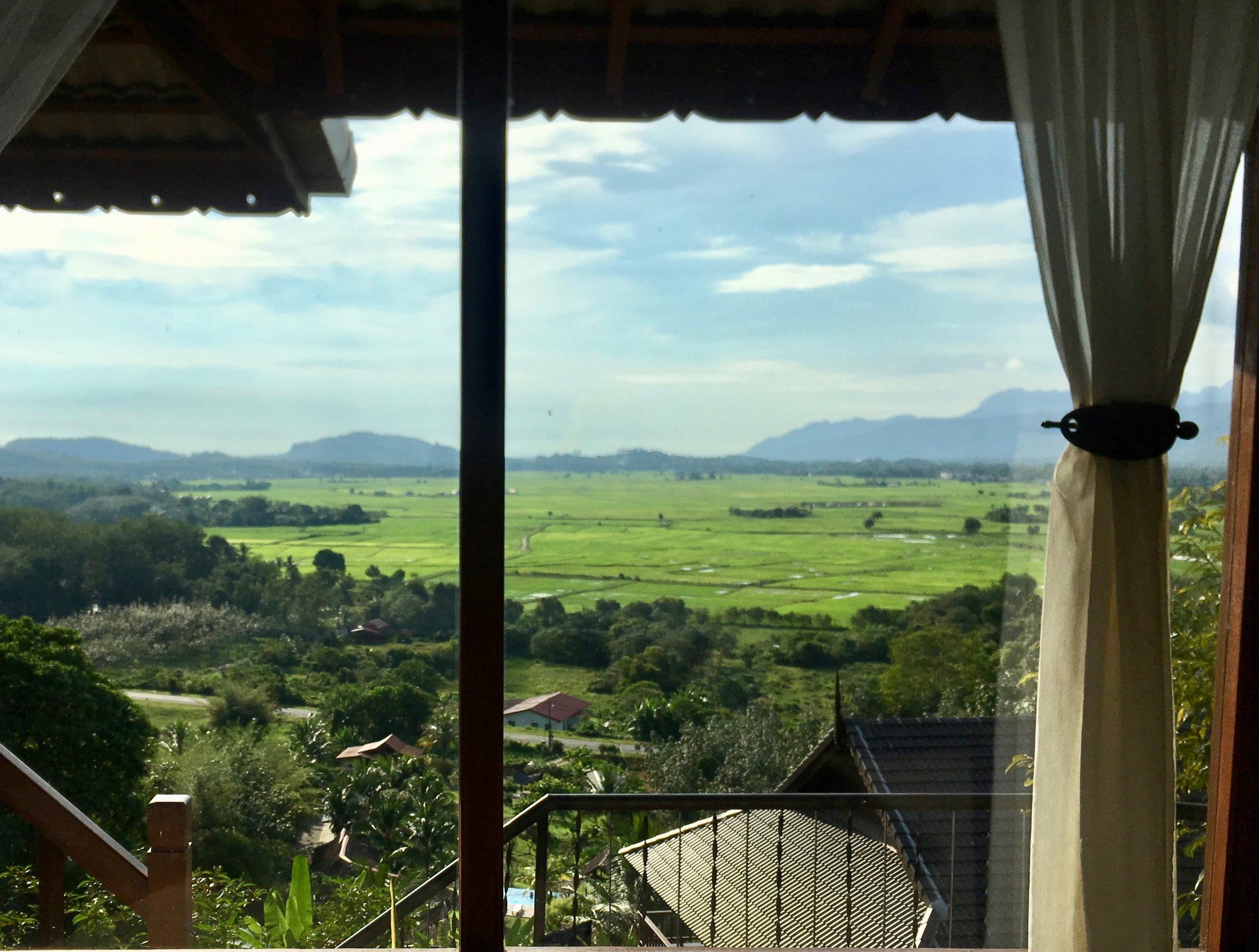 The view from our AirBnB in Langkawi... not a bad place for a workaway I'd say!