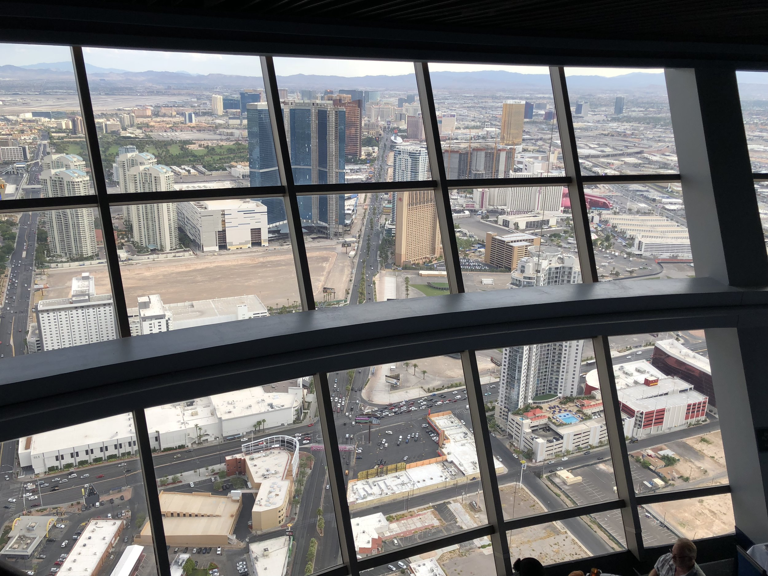 The view of the Strip from 107 SkyLounge at the Stratosphere