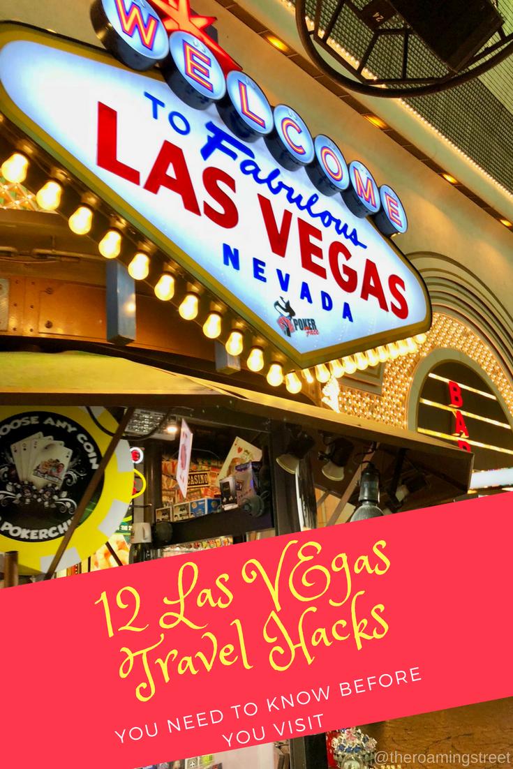 Las Vegas Travel Hacks Pin