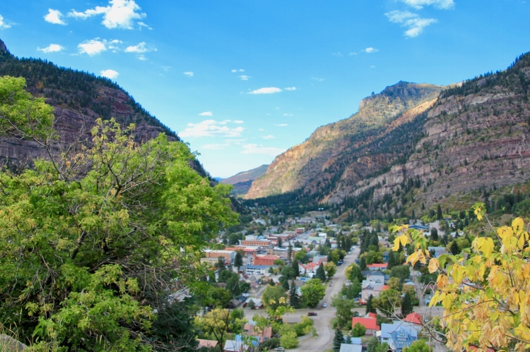 The beautiful town of Ouray