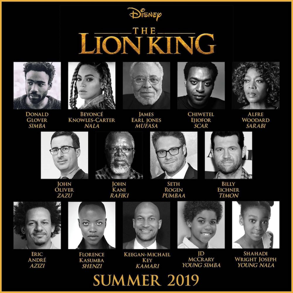 Lion King Cast 2019
