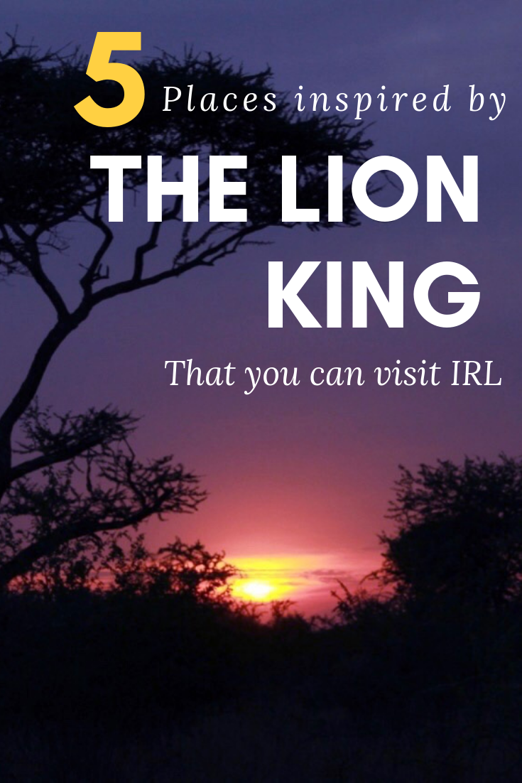 5 Places inspired by the Lion King that you can visit IRL