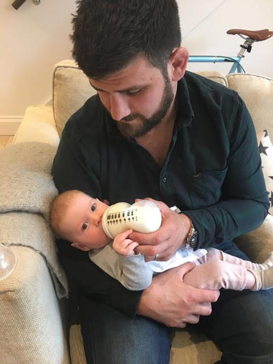First feed by dad