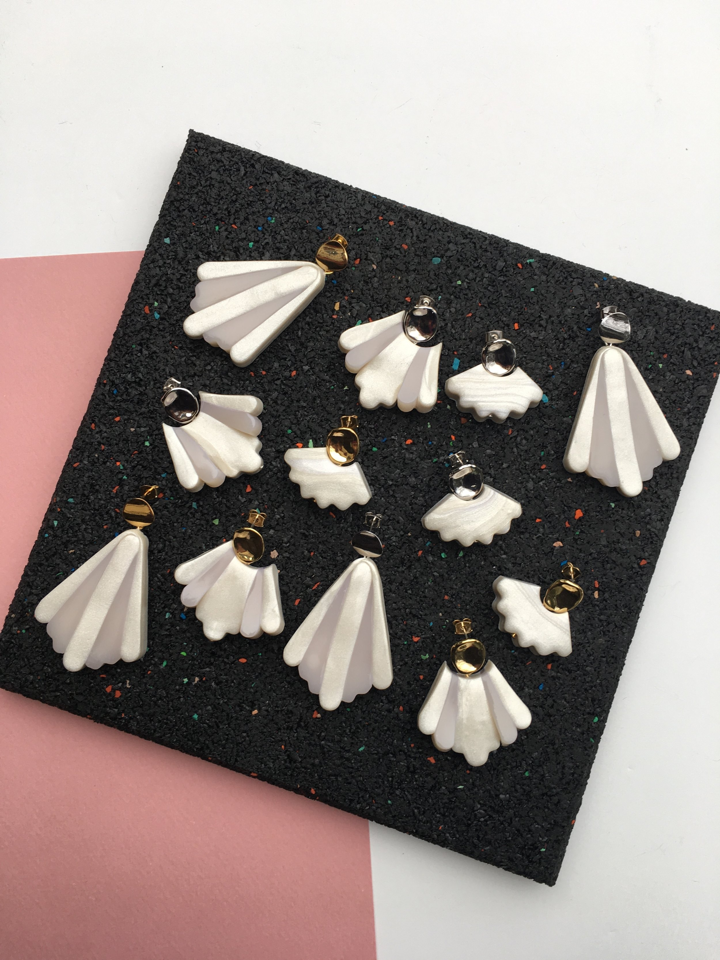 '…I'm thrilled about them. Thanks for the earrings and the care…' - - Amande (Bought the silver Large Art Deco earrings amongst others, France)