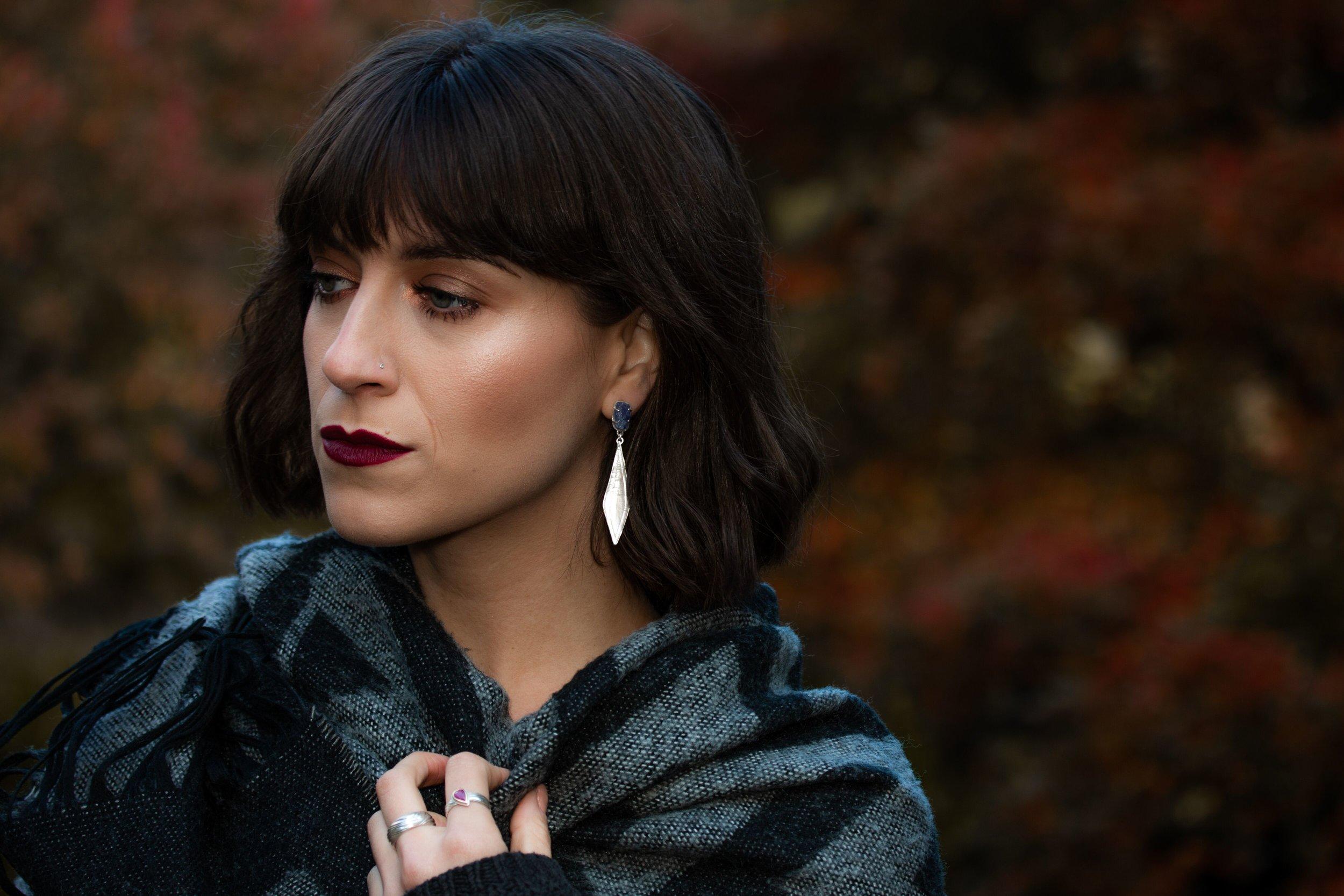 Diamond earrings model photoshoot.jpeg