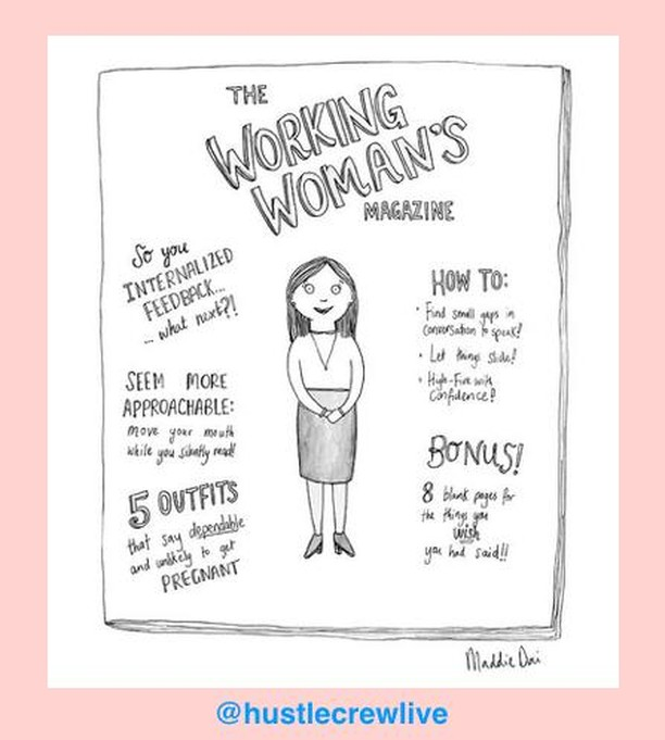 We love this cartoon by @maddiedai for @newyorkermag 😂 ⁣⠀ ⁣⠀ Tag a friend who could do with a copy of this magazine. ⁣⠀ ⁣⠀ #womenintech #womenintheworkplace #workingwoman #empowerwomen #womenempowerement #newyorkermag #newyorkercartoon #femalehumour