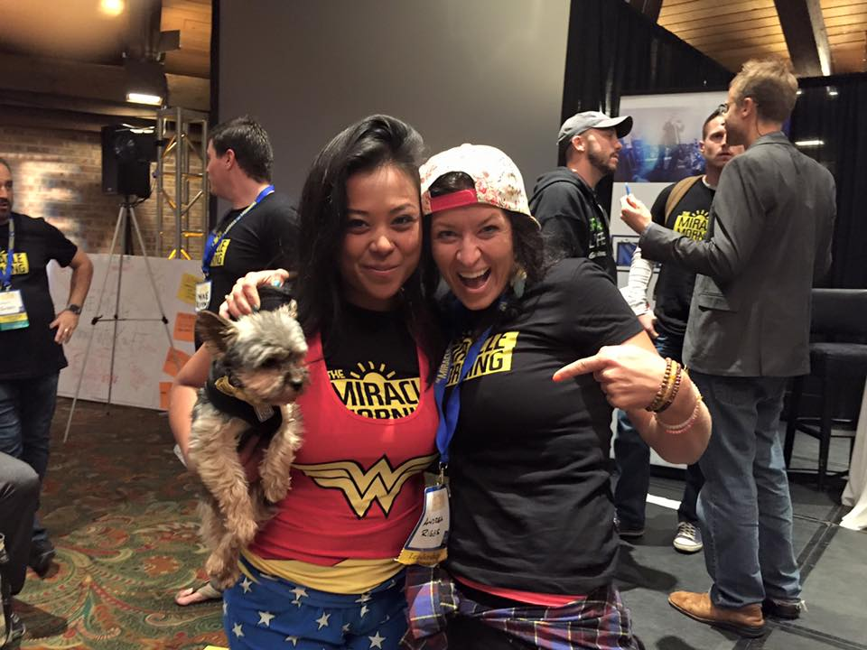 Andrea with Wonder Woman (aka Theresa Laurico- the producer of the upcoming MM Movie!)