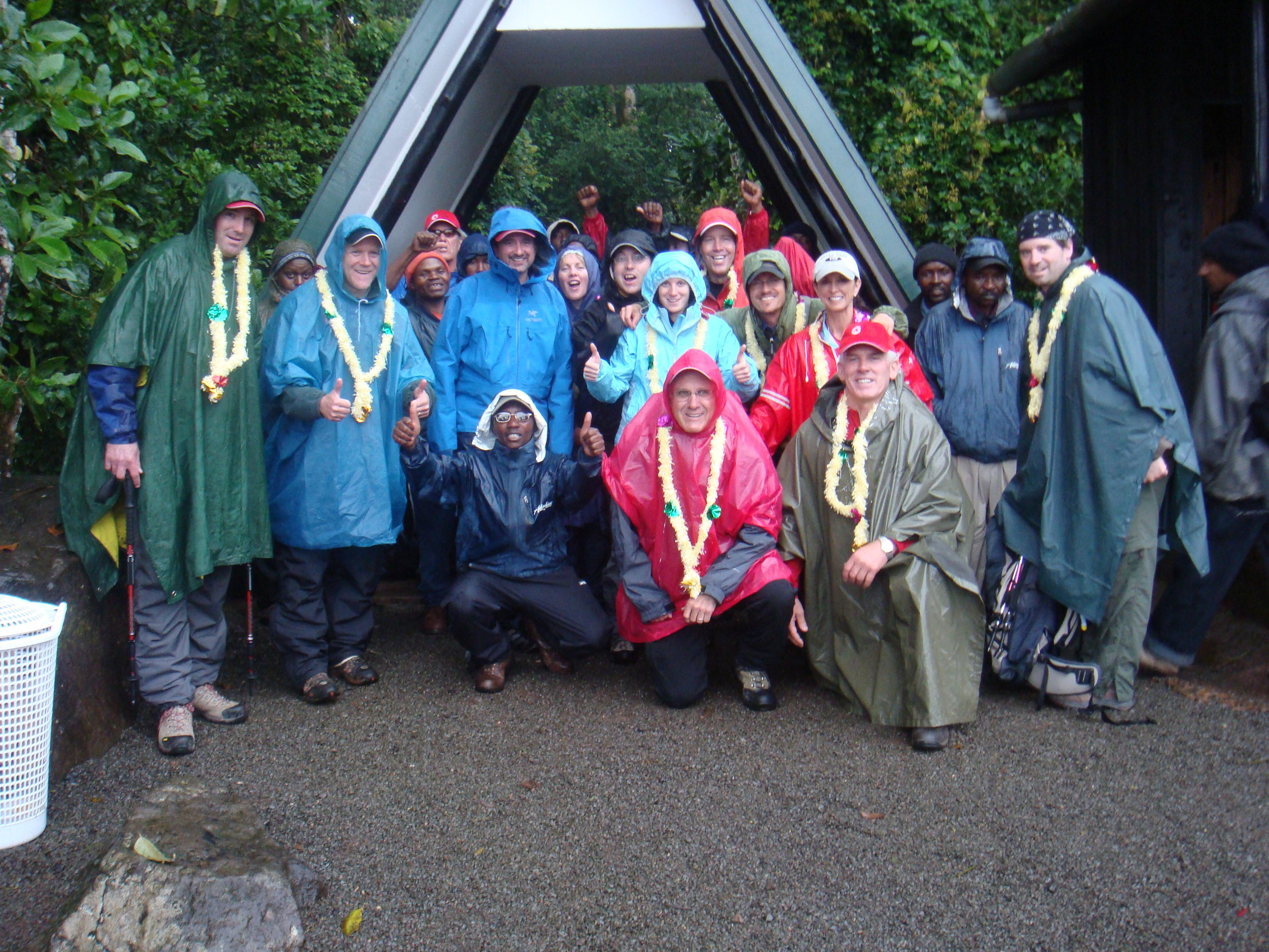 Our group about to start our acsent