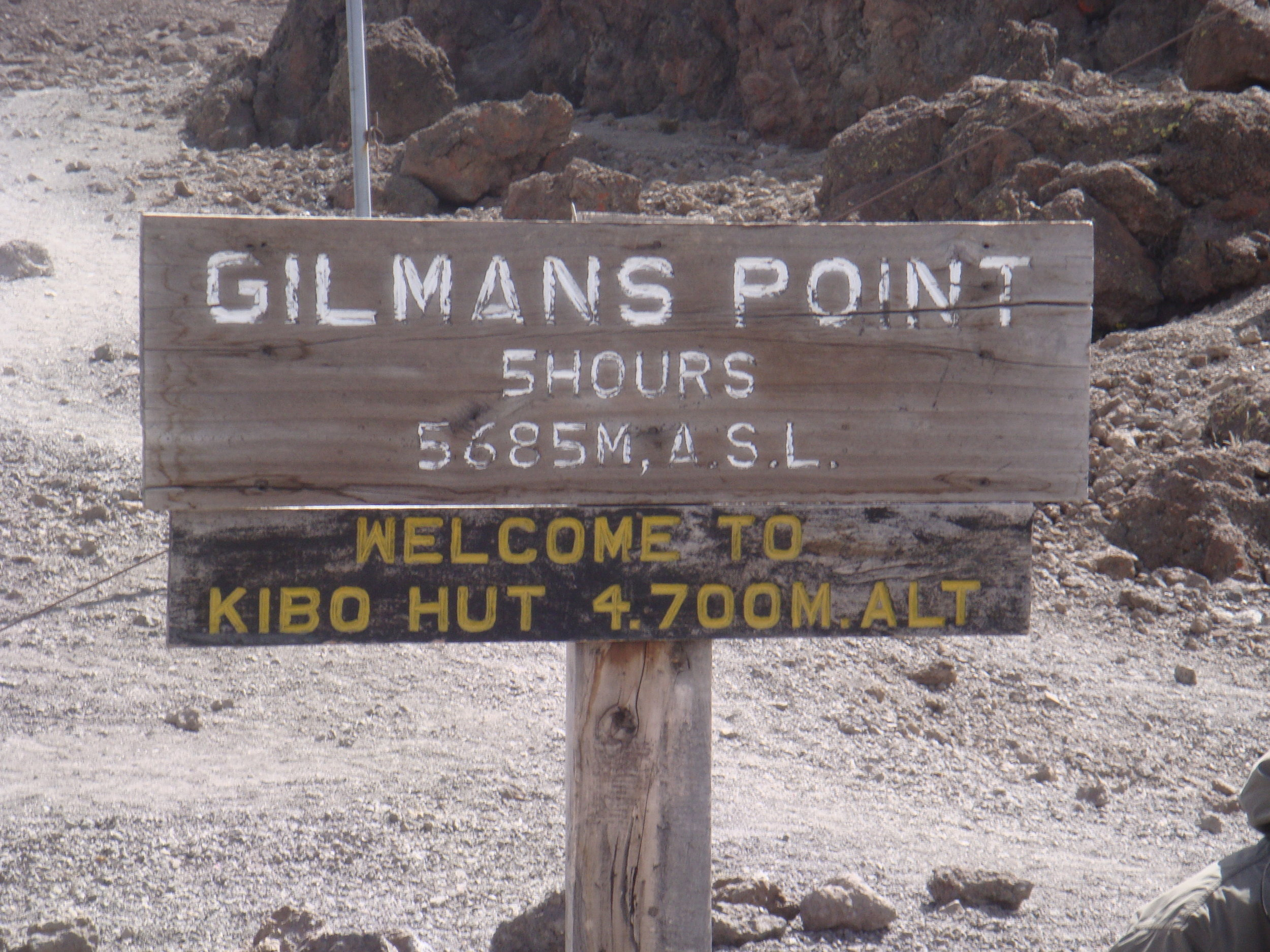 Day 4 hike to Kibo Hut