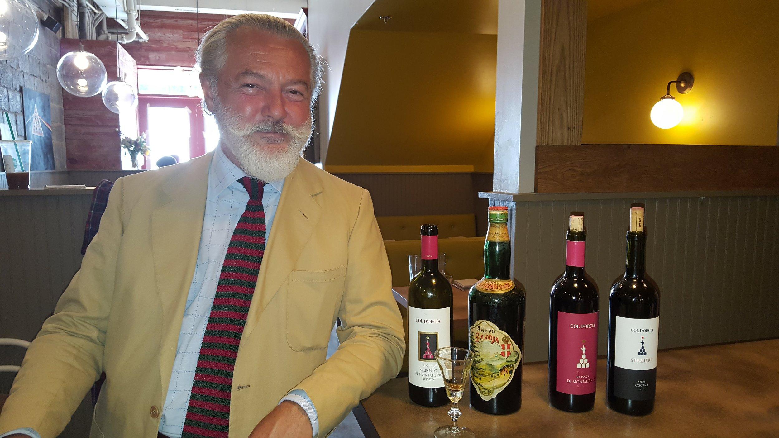 Count Cinzano visits! Tastes our vintage Cinzano.jpg