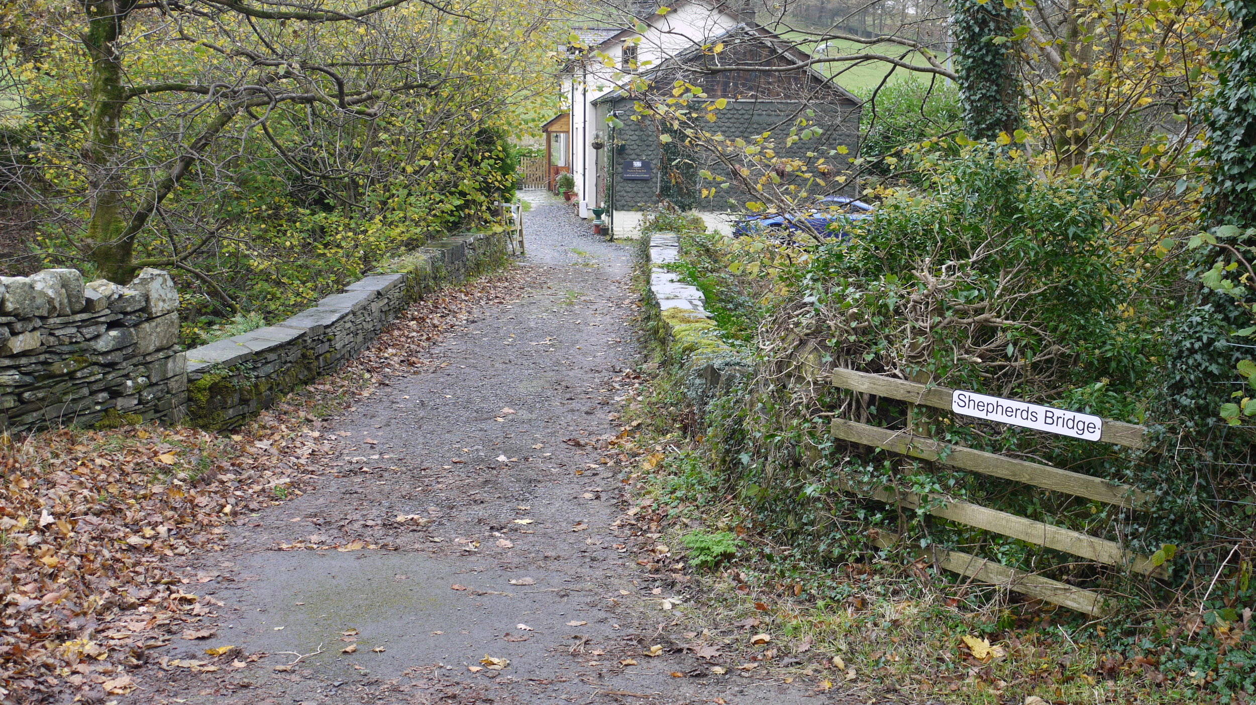 Entrance to Shepherds Bridge B&B