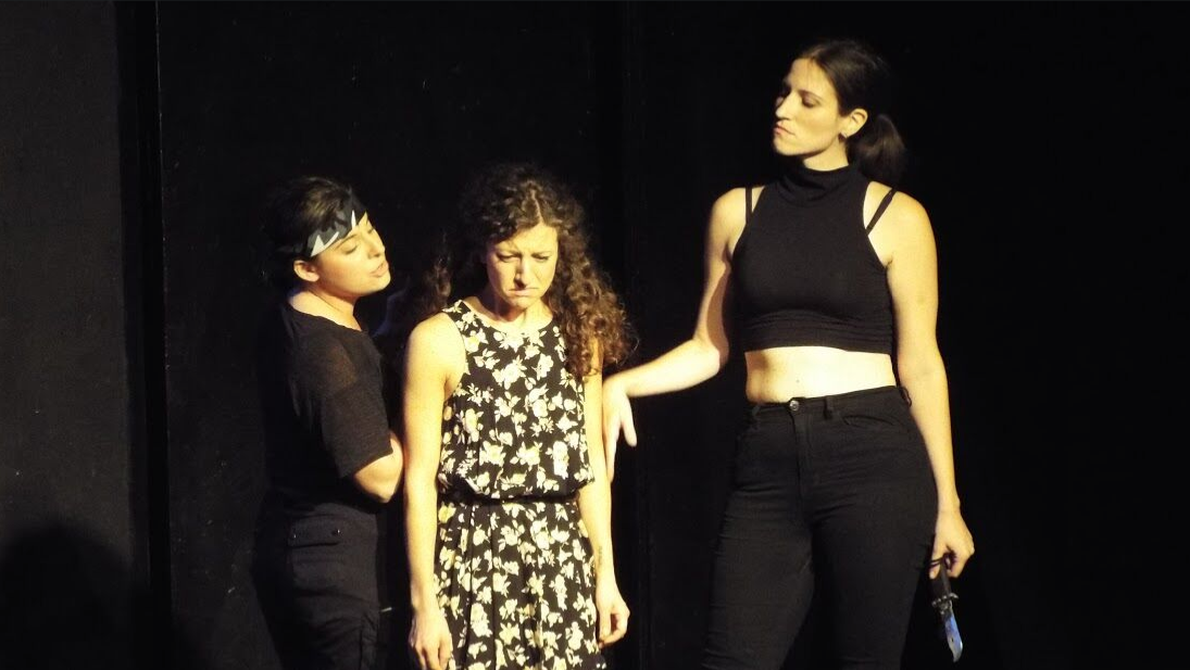 Alyson Goodman, Bethany Nicole Taylor, and Amanda Dolan in a new play by Liz Thaler and directed by Victoria Crutchfield in the cycle  Shotz, Marry, Kill