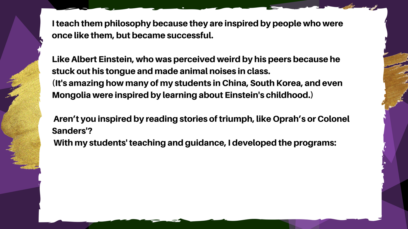 Gahmya Drummond Bey teaches philosophy to primary aged students