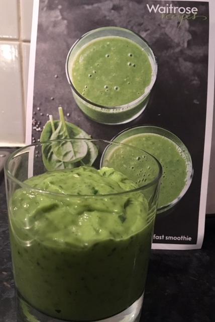 Avocado, banana and spinach smoothie