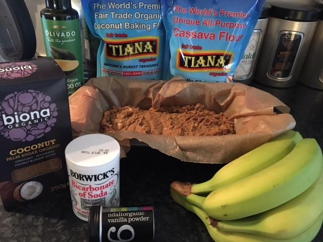 Ingredients banana bread