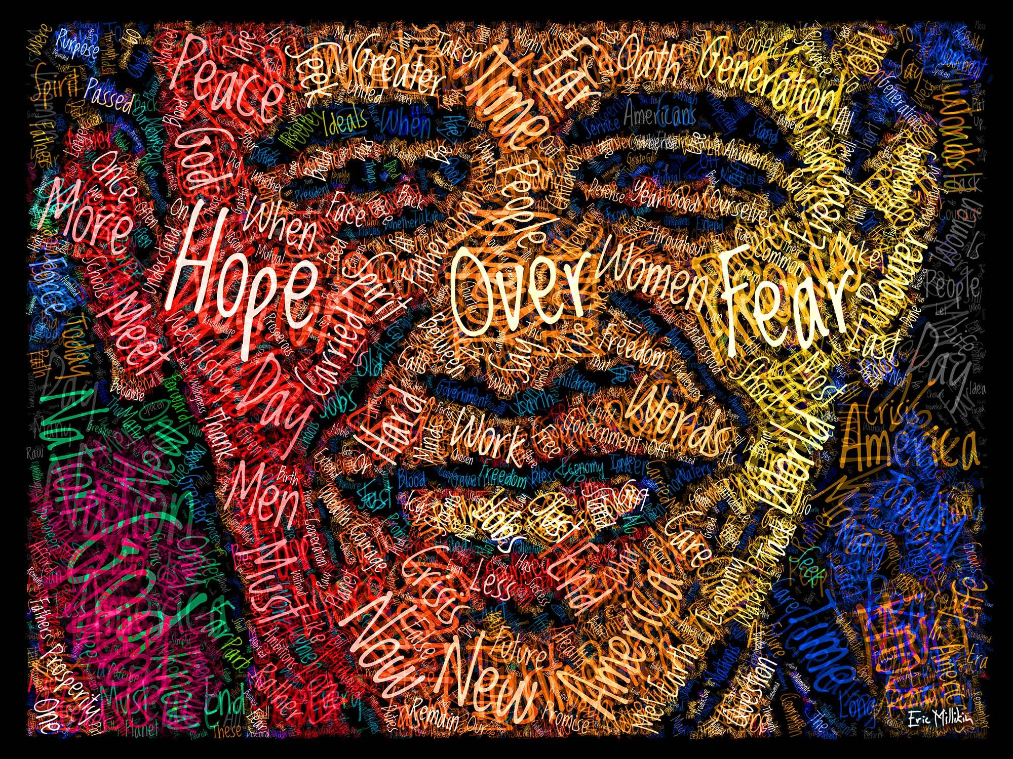 """""""Barack Obama: Hope Over Fear""""  2016"""
