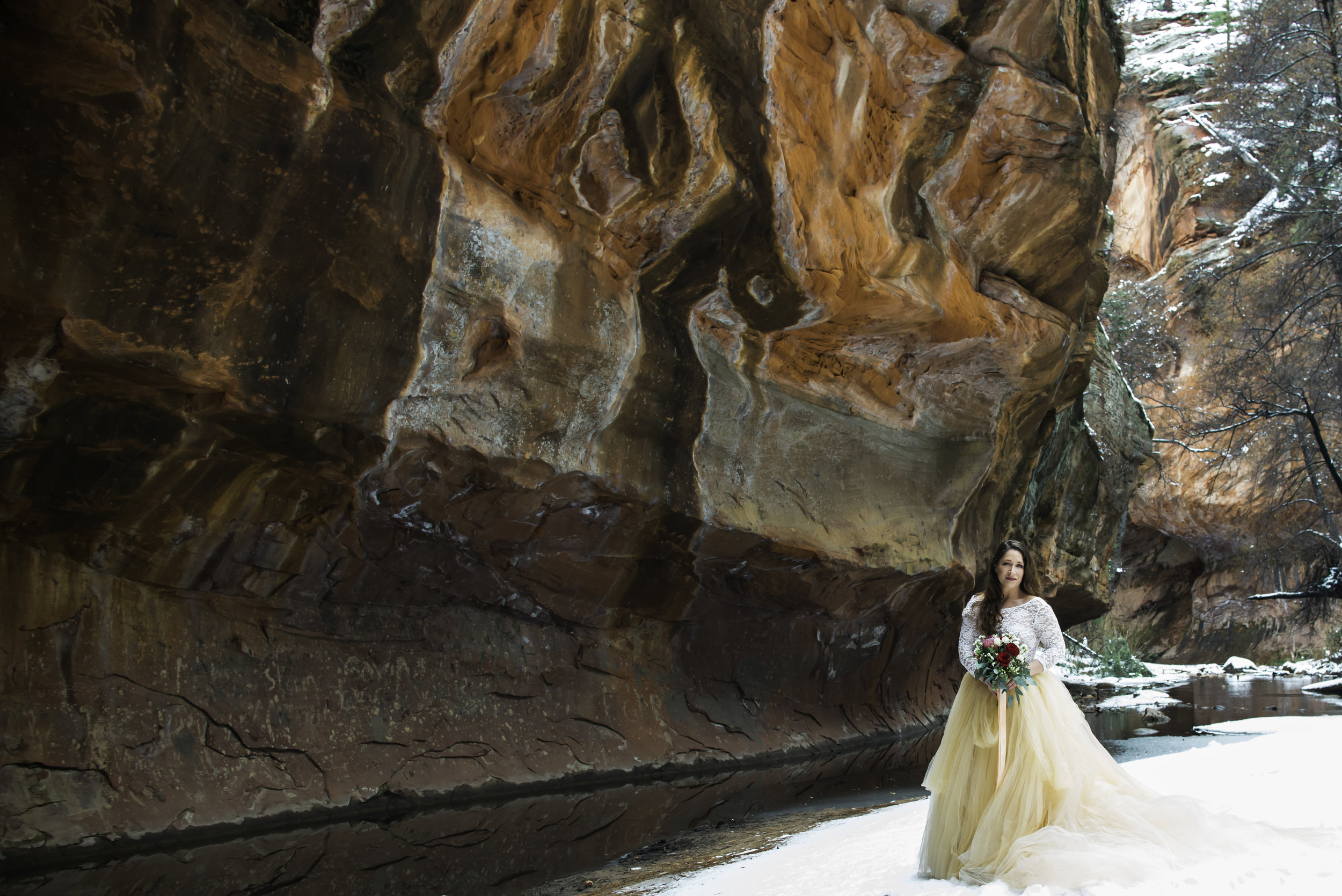 Sedona Snow Bridal Portrait
