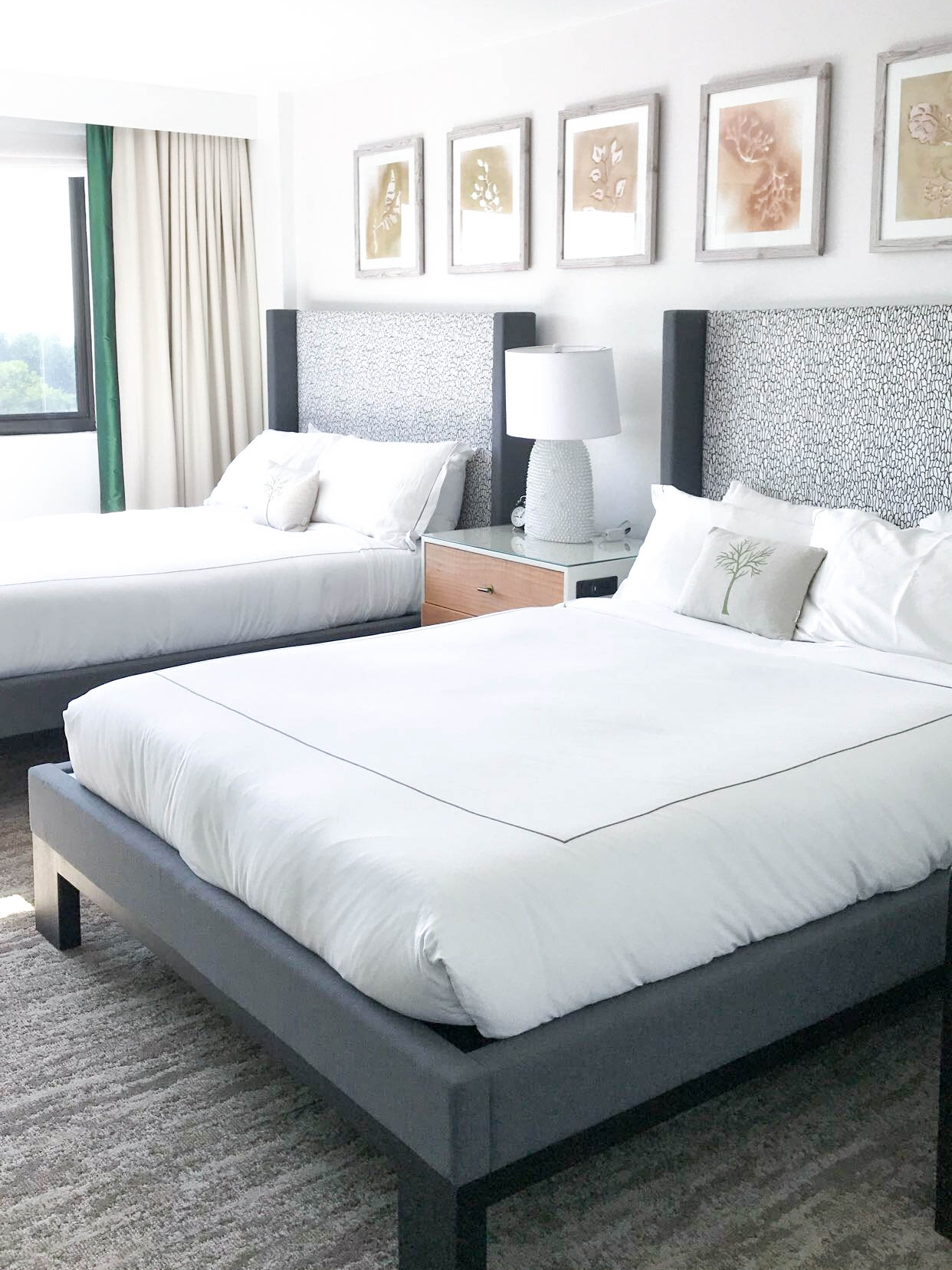 Our beautiful and incredibly comfortable beds at Kimpton Glover Park