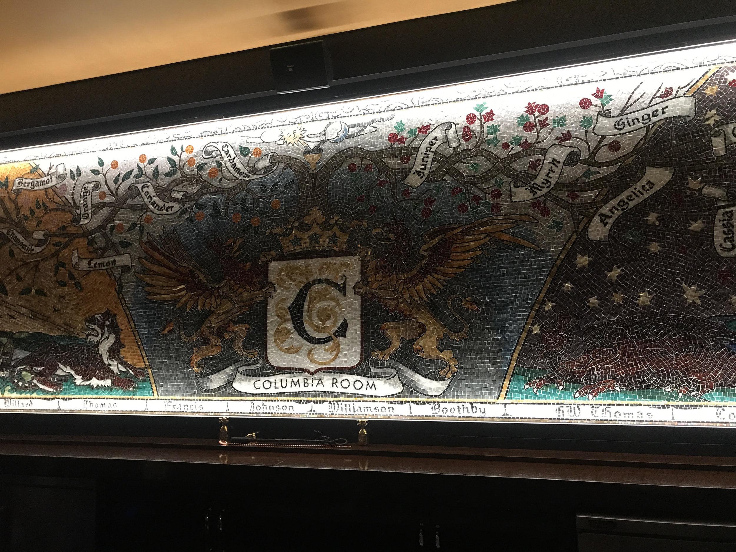 Mural in back room of Columbia Room