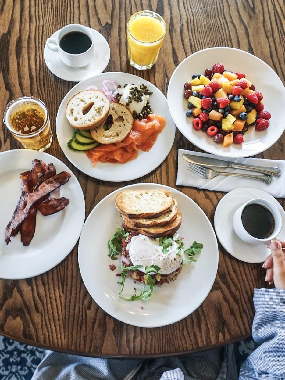 Breakfast Room Service Spread at Kimpton Sir Francis Drake