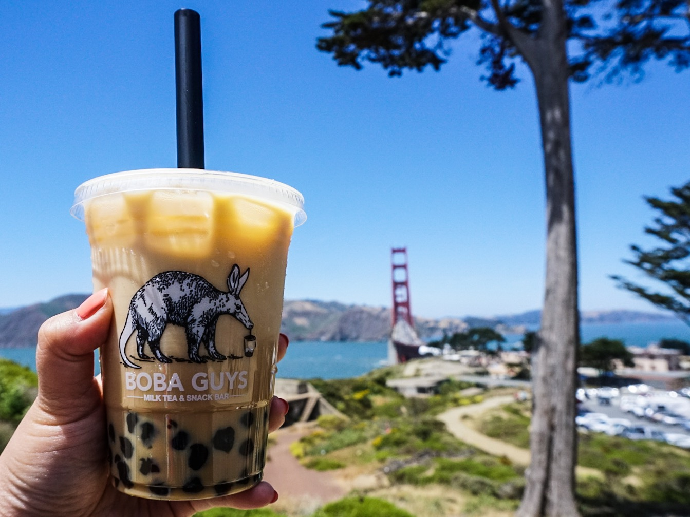 Original Milk Tea from Boba Guys x Golden Gate Bridge
