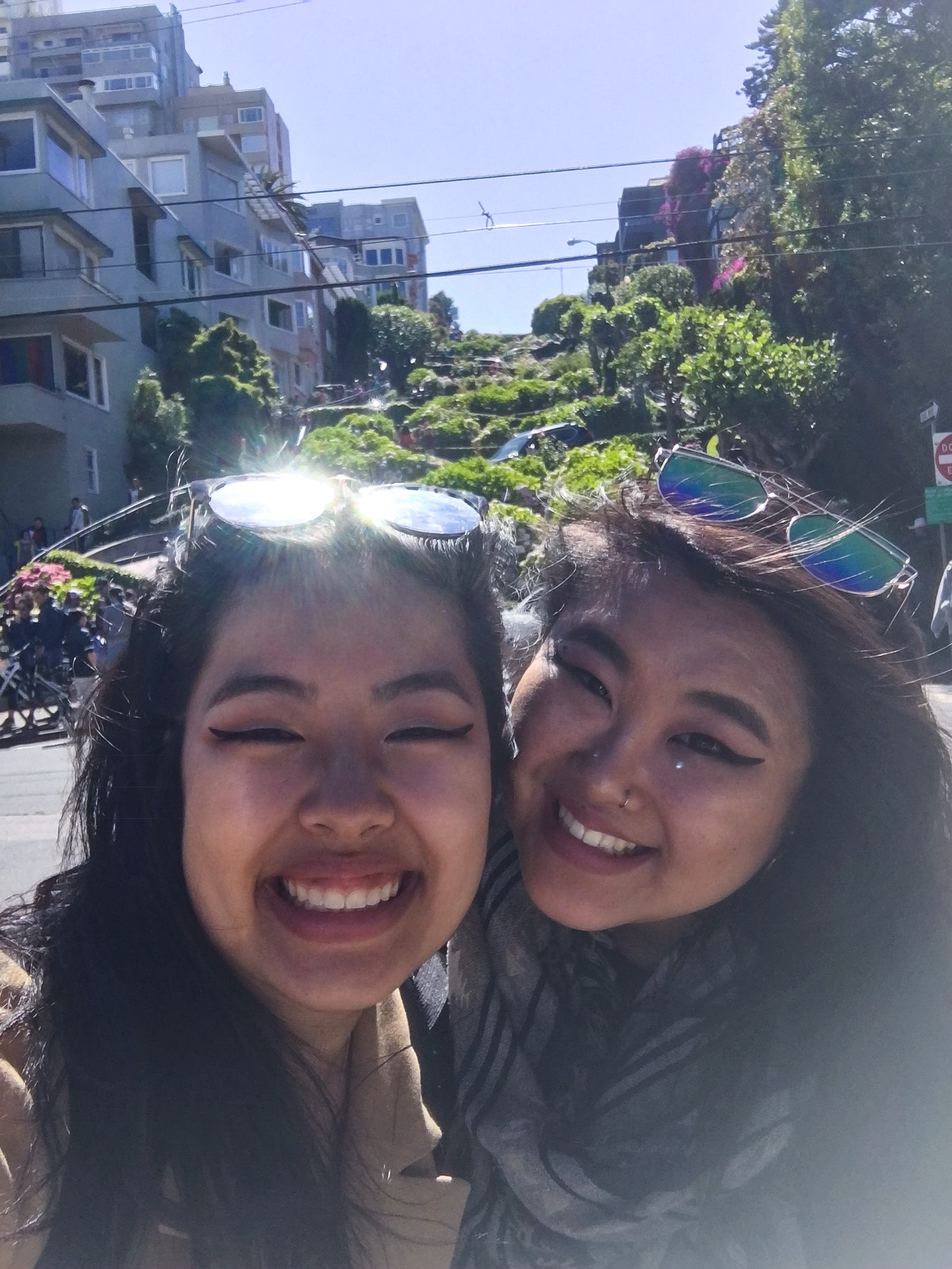 Jen and me at Lombard Street
