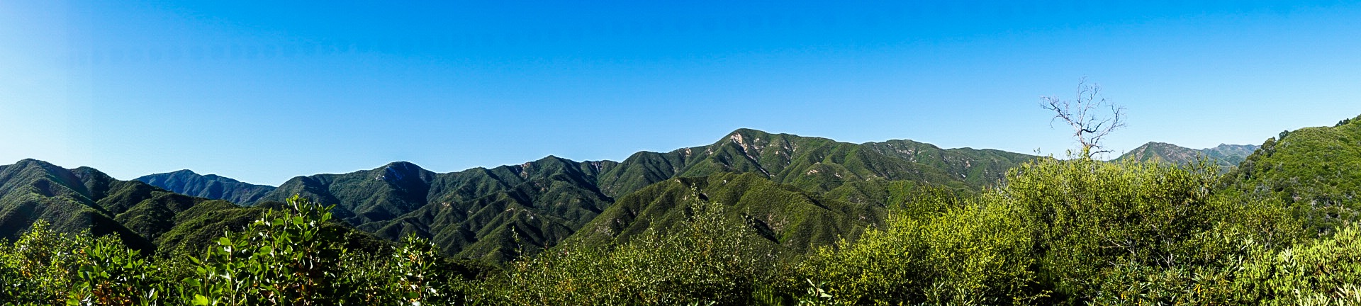 Views pulled over on Nacimiento-Fergusson Road