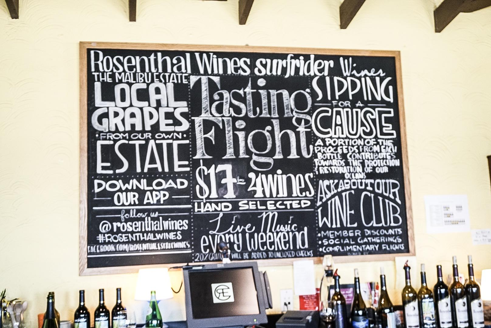 Inside Tasting Room at Rosenthal Wines