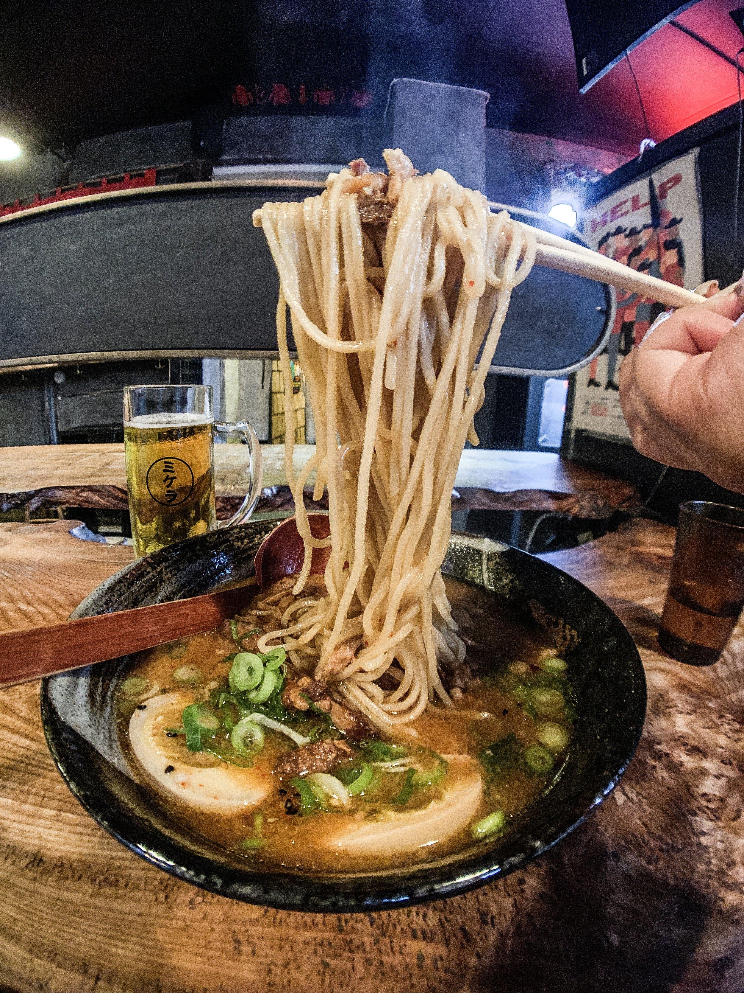 Spicy Miso Ramen at Ramen to Bíiru