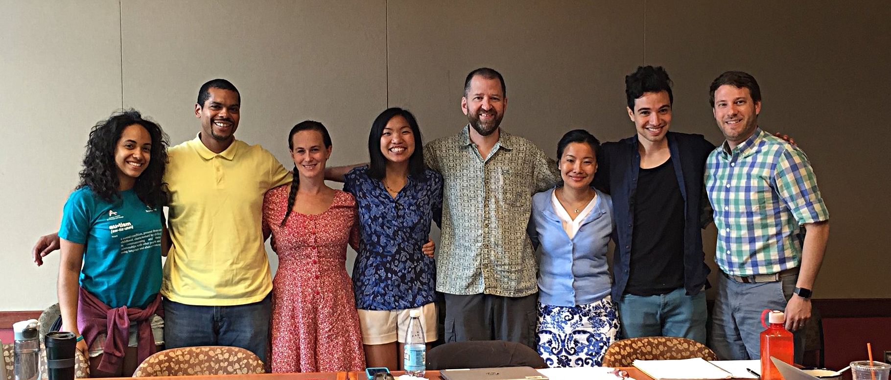 Weave News retreat, July 2016 from left to right: Michelle, Steve P., Jana, Nicole, John, Tsewang, Tzintzun, and Steve B.