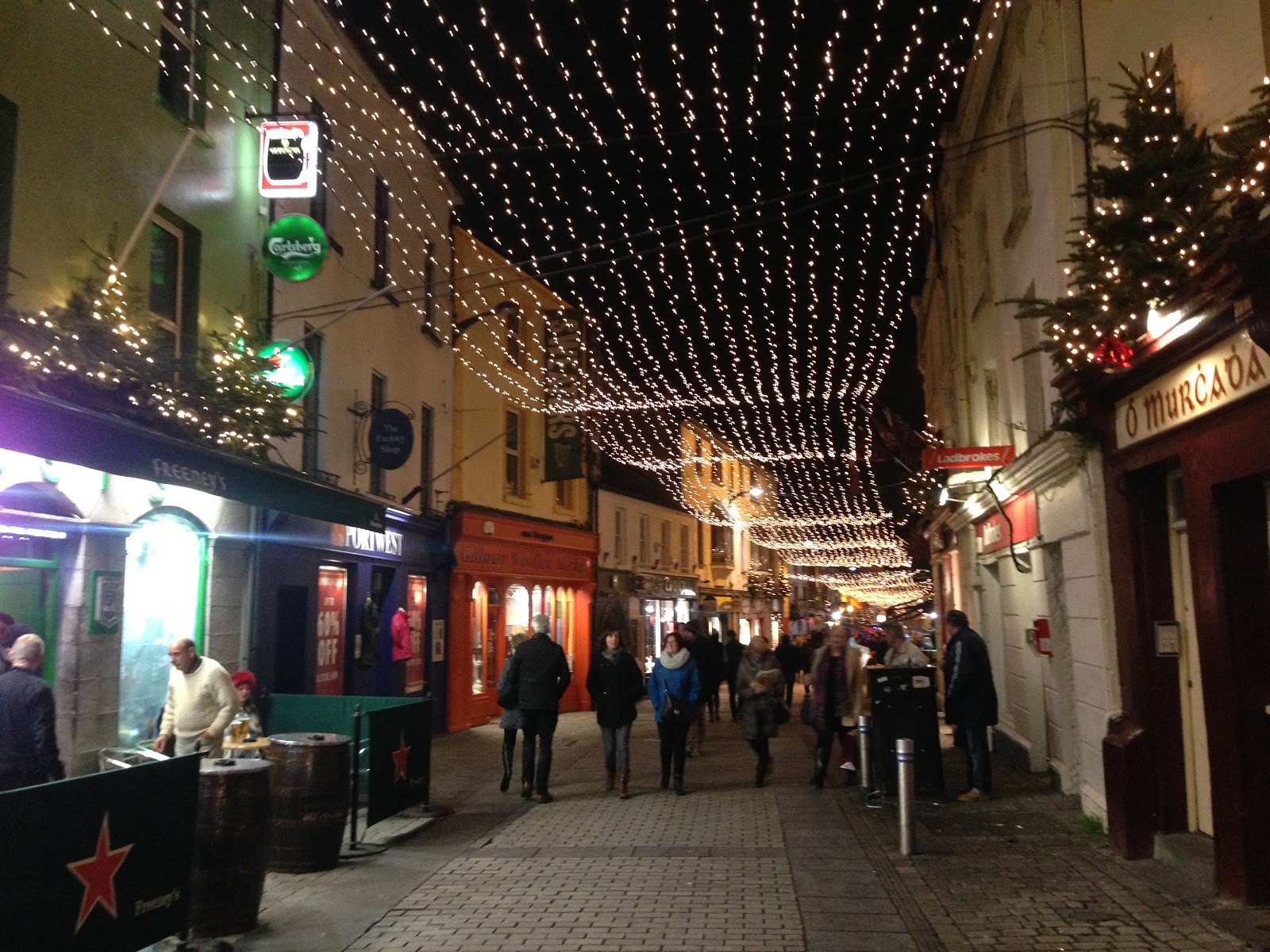 Shop Street's holiday decorations!