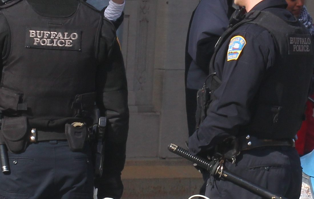 The New York State grant to the Buffalo Police Department will provide funds for semiautomatic assault rifles and heavy duty vests. (Image: Buffalo News)