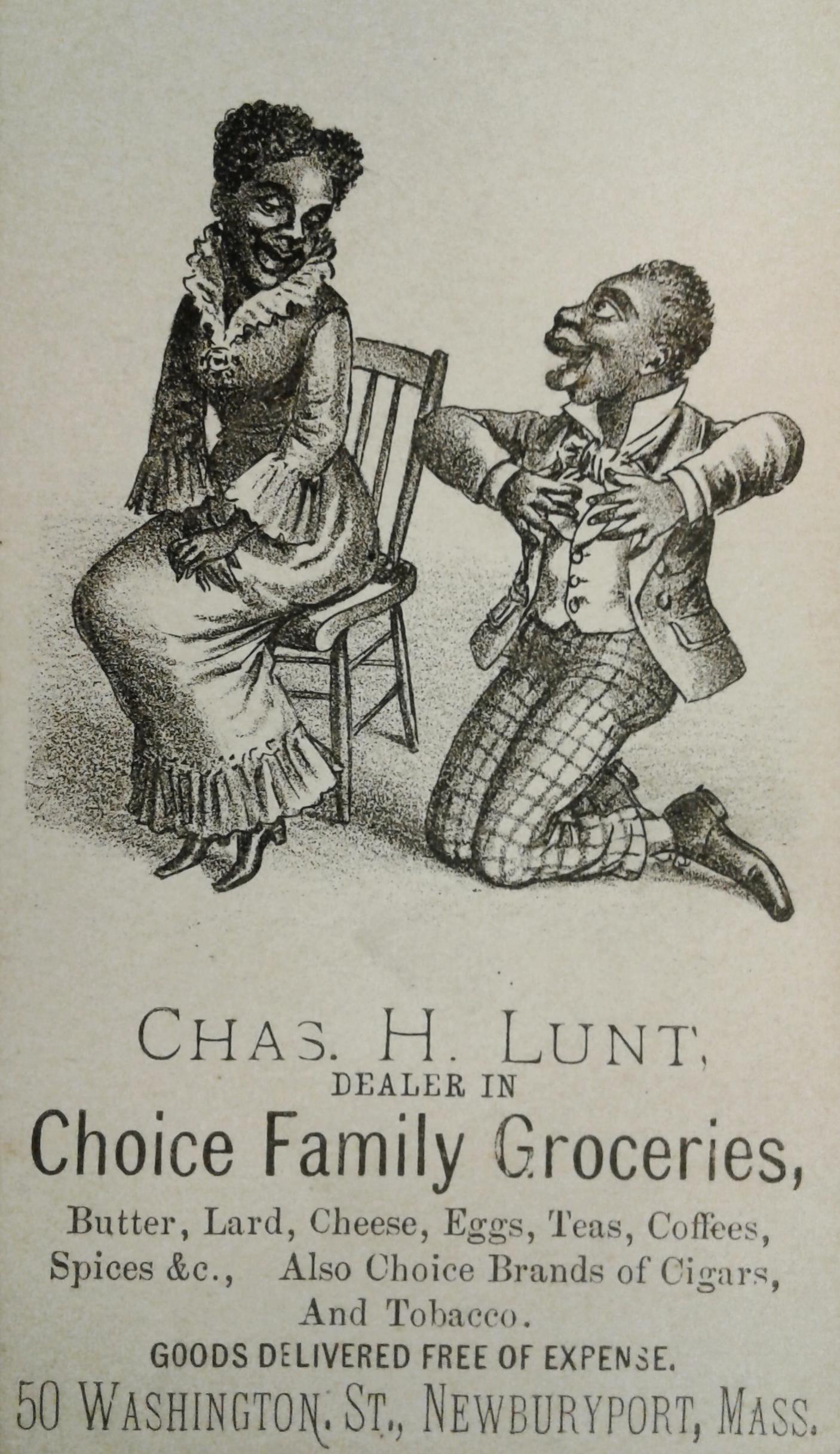 """Choice Family Groceries"" Business Card, Newburyport Public Library Archival Center, Newburyport, MA."