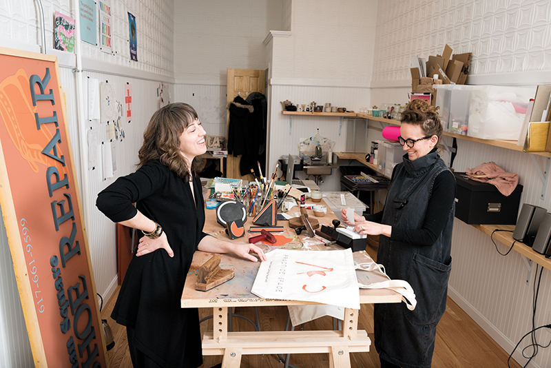 Co-Founders Diana Lempel and Nicole Lattuca. (Image credit: Holly Rike, Improper Bostonian)