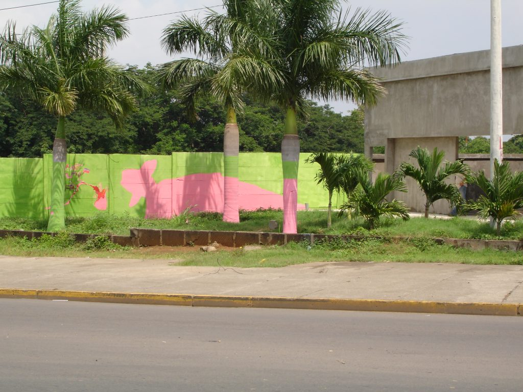 Goodbye Sandino  by Adán Vallecillo and Leonardo Gonzáles presents a commentary on the ways in which the FSLN's actions no longer represent Sandino's values. Image source:    http://www.labdecosas.com/niccr/   .