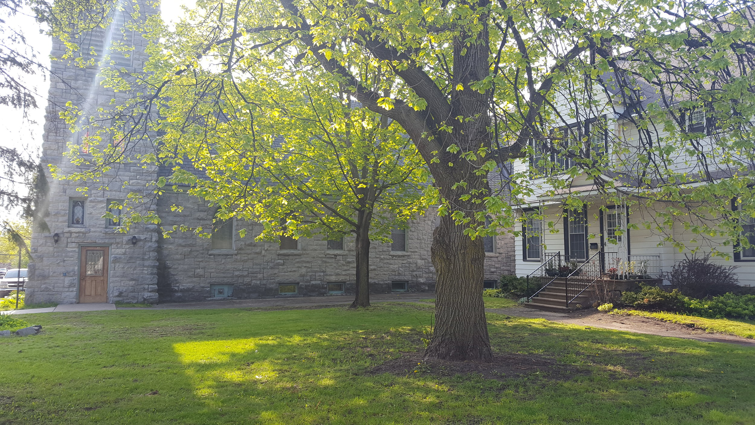 Grace House is located on E. Main St. in Canton, next door to Grace Episcopal Church.