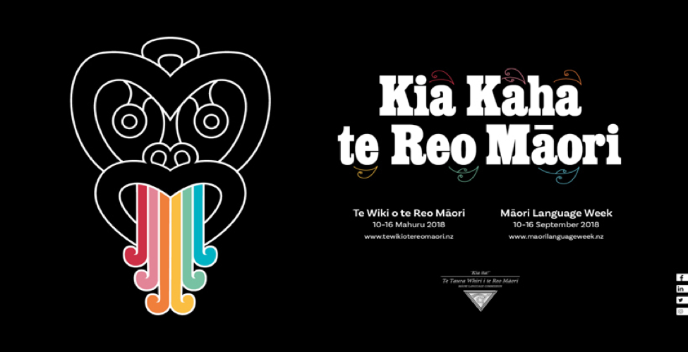 An advert for  Māori Language Week . (Source: The Warehouse Group)