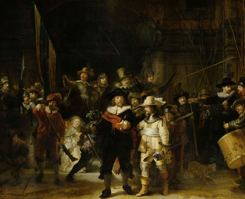 van Rijn,Rembrandt. The Night Watch . 1642. Rijksmuseum, Amsterdam, Netherlands.