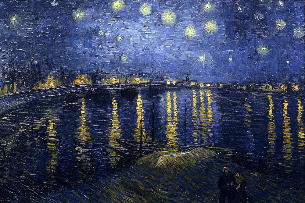 van Gogh, Vincent. Starry Night Over the Rhone . 1888.Musée d'Orsay,Paris, France.