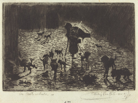 Buhot, Félix-Hilaire . Les Noctaumbules (The Night Prowlers). 1876-1877. The National Gallery of Art, Washington D.C, USA.