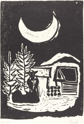 Ebell, Paul Heinrich . Winter Moon. 1940. National Gallery of Art, Washington D.C, USA.