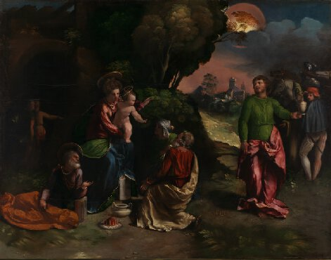 Dossi, Dosso. The Adoration of the Kings. 1530-42. The National Gallery, London, England.