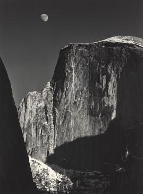 Adams, Ansel. Moon and Half Dome, Yosemite National Park, California. 1960. National Gallery of Art, Washington D.C, USA.