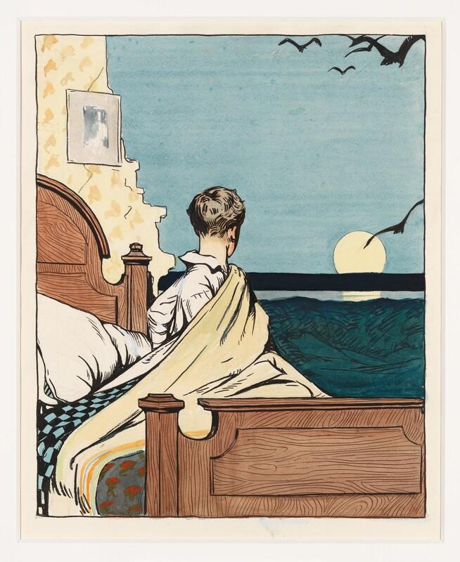 Hopper, Edward. Boy and Moon . 1906-07. Whitney Museum of American Art, New York, USA.