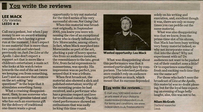 Lee Mack review