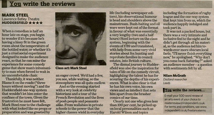 Mark Steel review