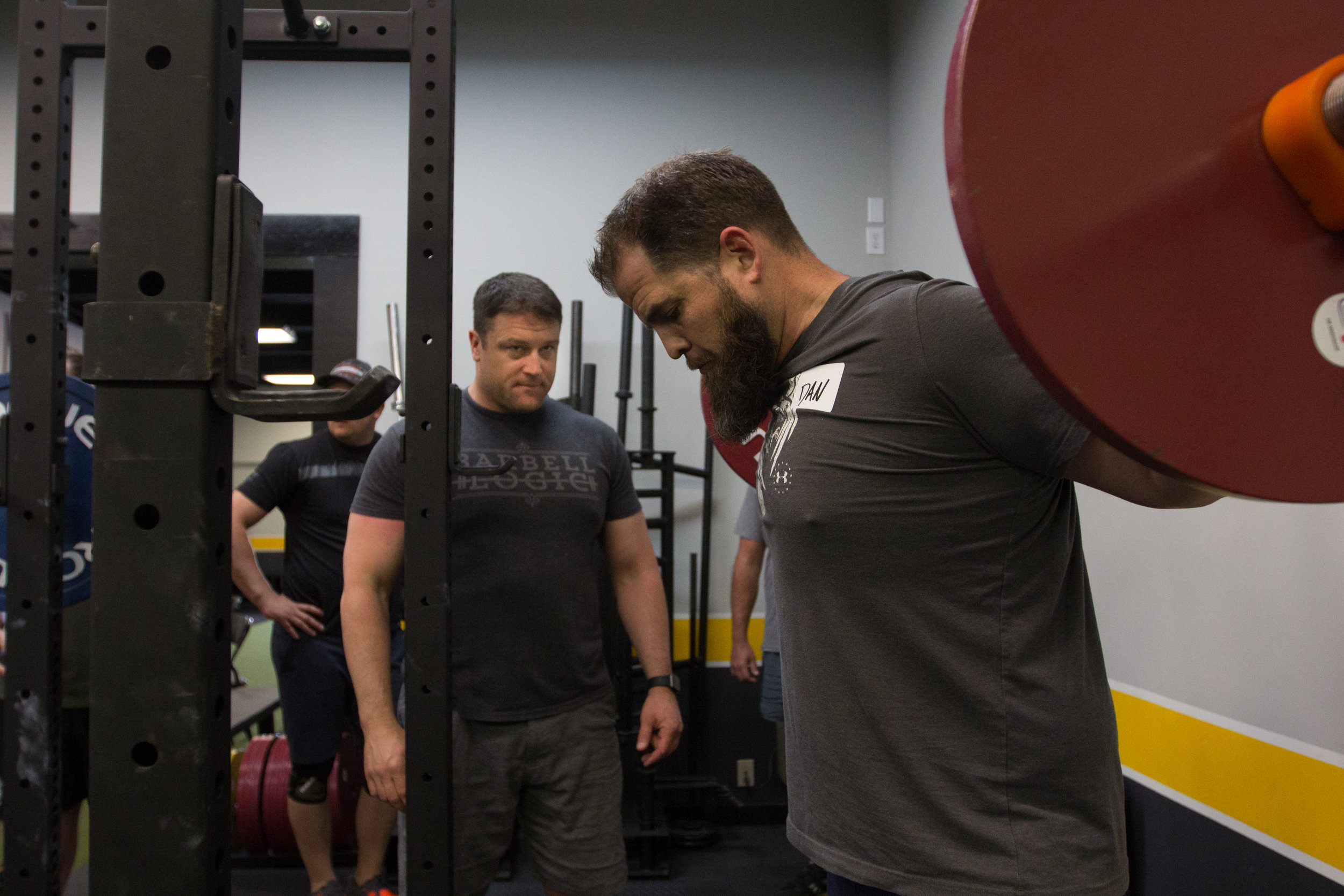 Working with Dan on his squat