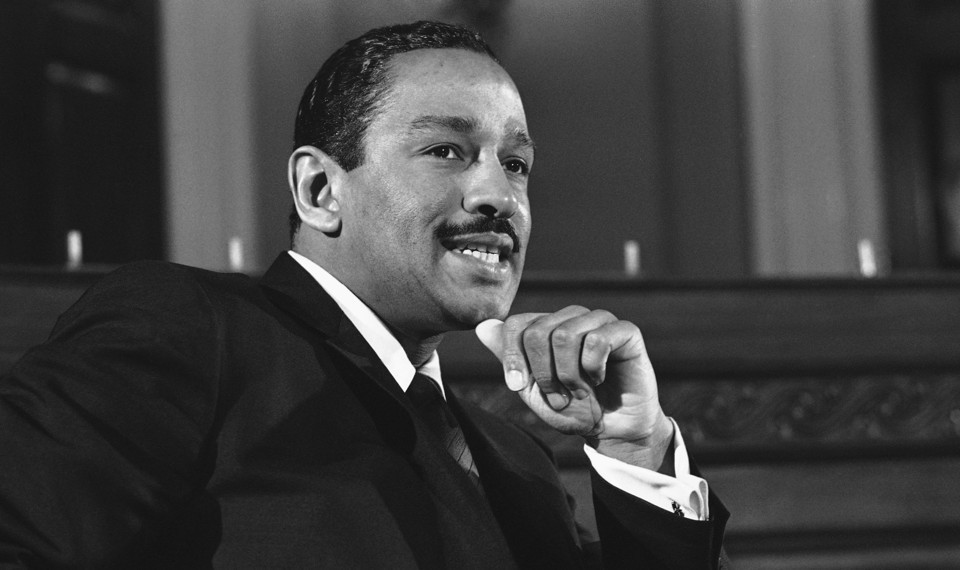 Former US Representative John Conyers in his younger days