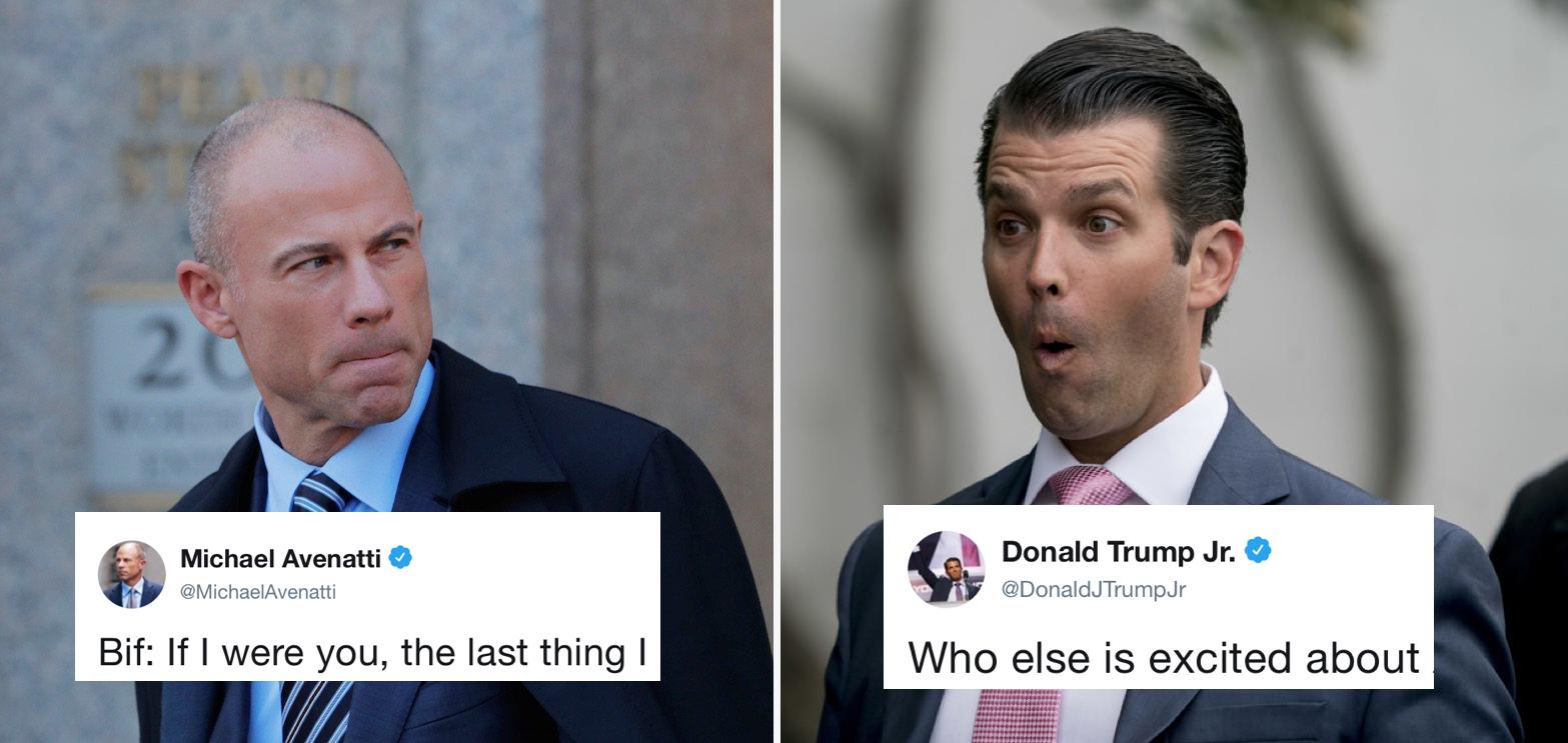 Avenatti and Trump Jr. trade jabs on Twitter