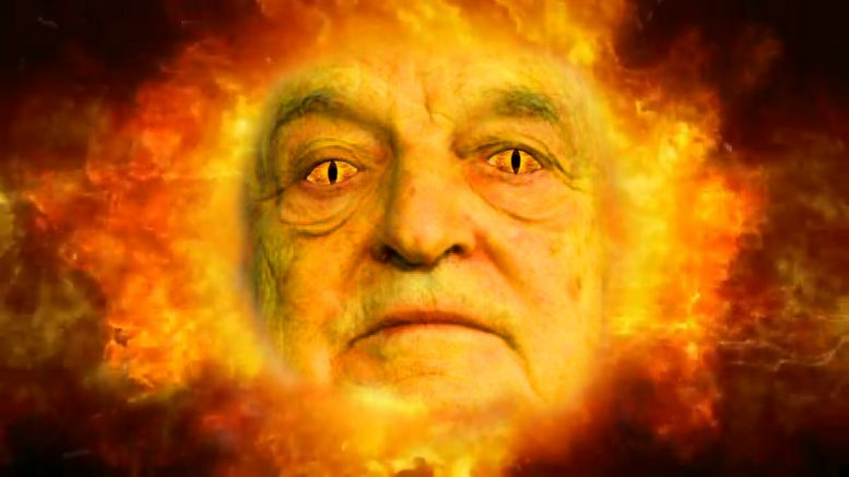 George Soros emerging from the womb.